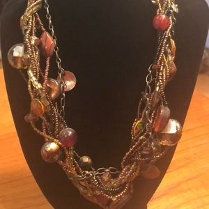 Jewelry - Multi-Strand Necklace and Earrings Set